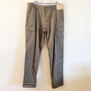 Louis Raphael   Khaki Cargo Straight Fit Khakis 34